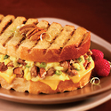 Breakfast Panini with Pecans, Cheddar & Sausage